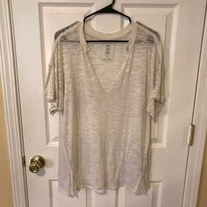 Free People Jordan Tee Cream Small
